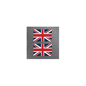 Union Jack usar dos etiquetas engomadas de la Union Jack 6.5 X 4.5 Cm