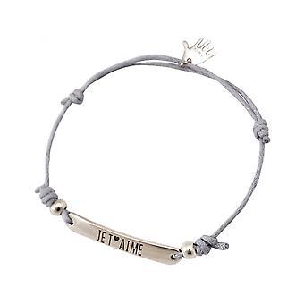 Женщины - браслет - выгравированный - ´ ЭМЕ - серебро НА Т - светло-серый