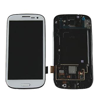 LCD Display & Touch Screen Digitizer Assembly Replacement for Samsung Galaxy S3 (White)