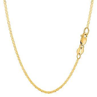 10 k Gelb Gold Mariner Link Kette Halskette, 1,7 mm