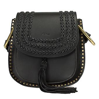 Chloe Hudson Calfskin Shoulder Bag | Black with Gold Hardware