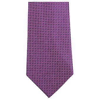 Knightsbridge dassen kleine patroon stropdas - helder roze/zwart