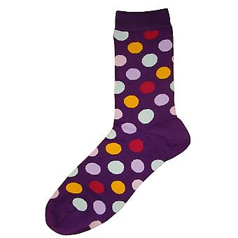 Bassin and Brown Multi Spot Socks - Purple/Multi-colour