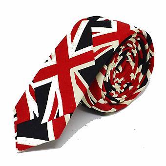 Union Jack Skinny Tie, Mens Neck Tie, Great Britain Tie