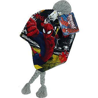 マーベルのスパイダーマンの男の子は、ペルーの冬の帽子