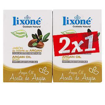 Lixone Aceite de Argan Jabón Aceite Vegetal 2 X 125 gr unisex