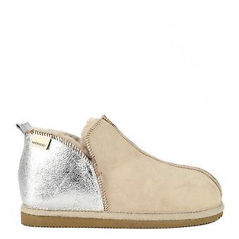 Shepherd of Sweden Annie Honey And Silver Slipper Boot