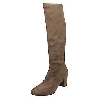 Mesdames Anne Michelle Pull sur bottes Knee High F50680
