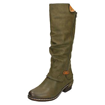 Ladies Rieker Knee High Casual Boots 93655