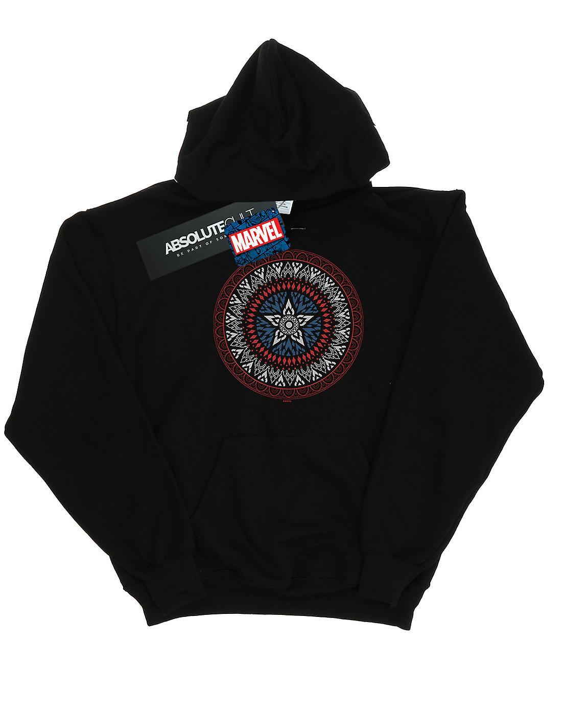 Marvel Men's Captain America Ornamental Shield Hoodie