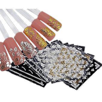 6 STKS vellen stickers Nail decoratie