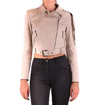 Elisabetta Franchi Ezbc050119 Women's Beige Polyester Outerwear Jacket
