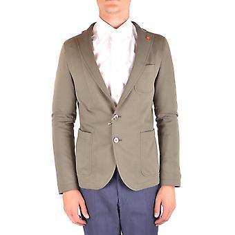 Manuel Ritz Ezbc128034 Men's Green Cotton Blazer