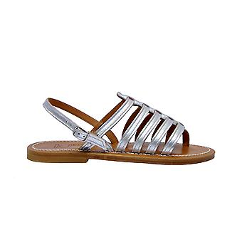 K.jacques Homerelameargent Women's Silver Leather Sandals