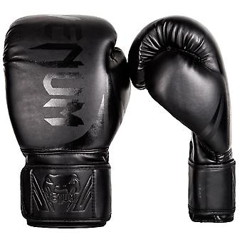 Venum Challenger 2.0 Hook and Loop MMA Training Boxing Gloves - All Black