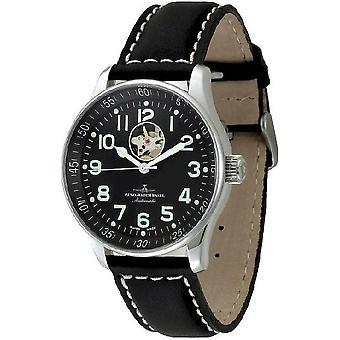 Zeno-watch mens watch X-large pilot open heart P554U-a1