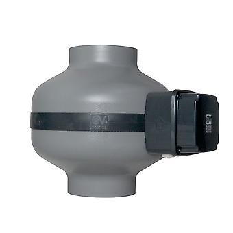 Energibesparande inline fläkt CA ES serien metall IP44