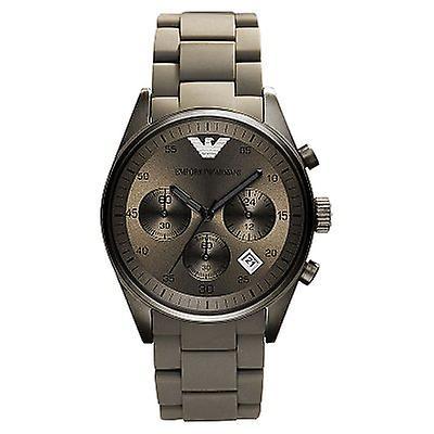 Emporio Armani Ar5950 Sportivo Unisex Grey Chrono Silicone Watch
