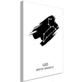 Wandbild - Zodiac Signs: Leo (1 Part) Vertical
