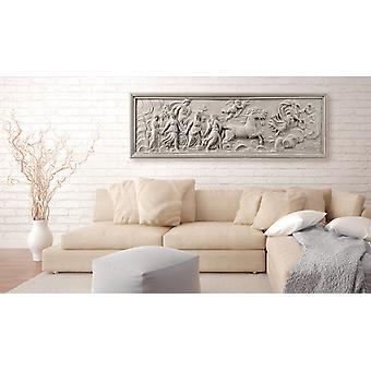 Maalaus - Relief: Apollo ja Muses150x50