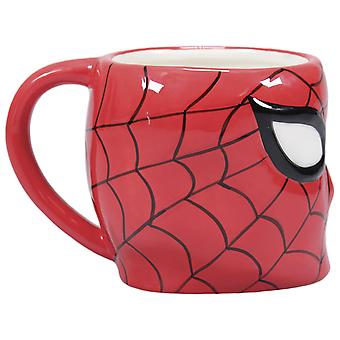 Marvel Spider-Man 3D taza cara negro / rojo, impreso, 100% cerámica, zócalo÷gen aprox. 425 ml..
