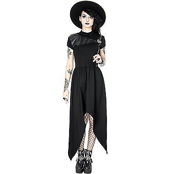 Restyle - pentagram tunic - gothic asymmetric dress, leather straps