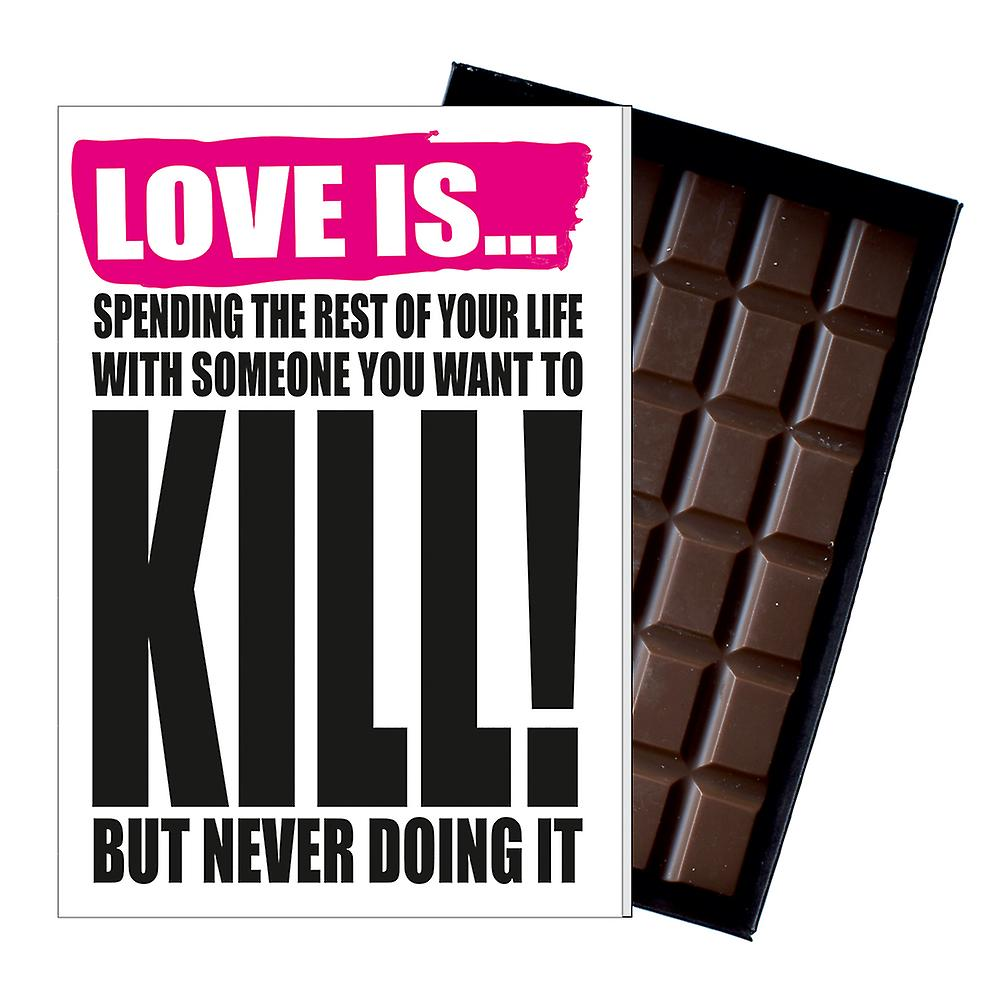 Funny Valentine?s Day Gift For Boyfriend Naughty Present for Men Chocolate Card IYF147