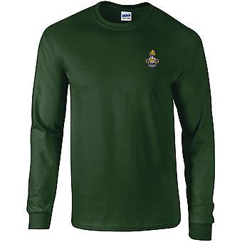 Servicios Educativos y de Entrenamiento (ETS) - Camiseta de manga larga bordada con licencia del Ejército Británico