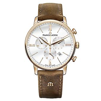 Maurice LaCroix Eliros Chronograph Leather Strap White Dial Men's Watch