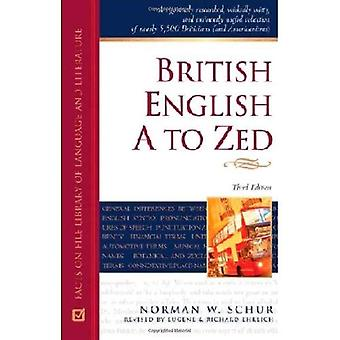 Brittisk engelska A till Zed (författare referens)
