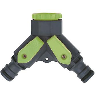 Maiol Double Tap Green Line Plug - Blister (Garden , Gardening , Irrigation)