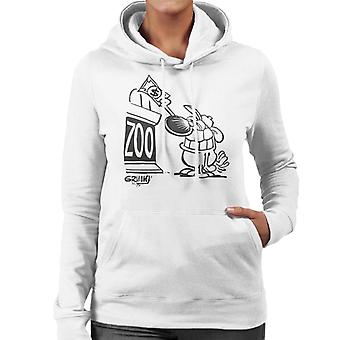 Grimmy Reise in den Zoo Frauen's Kapuzen-Sweatshirt