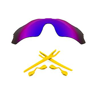 Polarized Replacement Lenses Kit for Oakley Radar EV Path Purple Mirror Yellow Anti-Scratch Anti-Glare UV400 SeekOptics