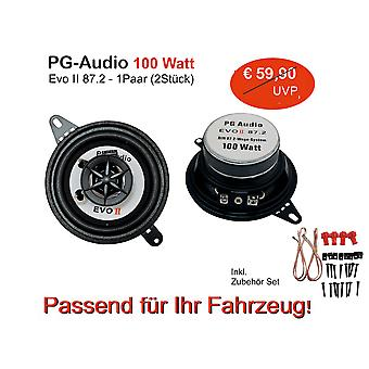 PG Audio 87 mm , Coaxial 8.7 cm Coaxial Front Car Speaker Dashboard B Ware