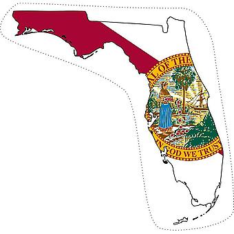 Sticker Sticker Sticker Motorcycle Car Map Florida Flag USA USA