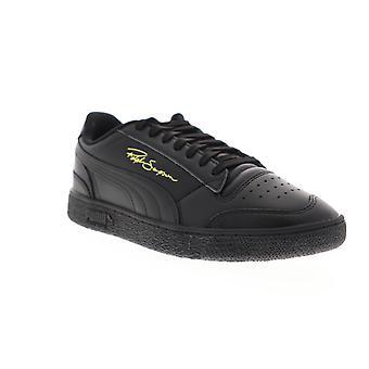 Puma Ralph Sampson LO menns svart skinn lav topp joggesko sko