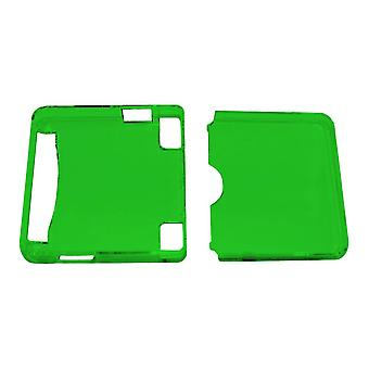 Crystal case shell protective hard cover for nintendo game boy advance sp - clear green