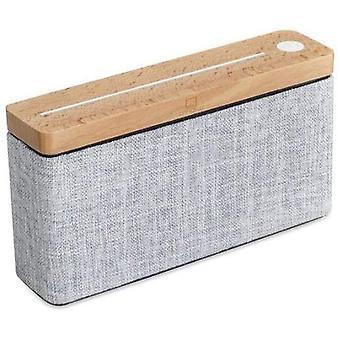 Gingko HiFi pătrat TWS Bluetooth Speaker, Portable & reîncărcabilă cu touch controale, made cu solid lemn & de înaltă calitate Fabric, diverse modele