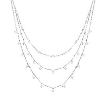 Diamonfire Triple Row Cubic Zirconia Necklace N4341