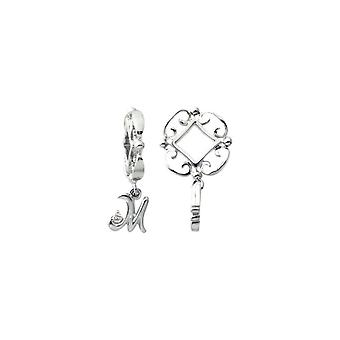 Storywheels Silver M Initial Dangle Charm S212D