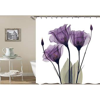Mulled Wine Flowers Shower Curtain