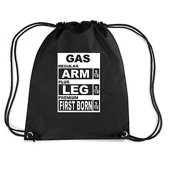 Black backpack fun1550 gas price cost arm and leg