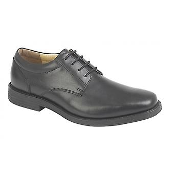 TredFlex Winstonian Mens Leather Gibson Shoes Black