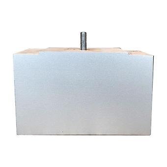Rektangulärt grått trämöblemang ben 11 cm (M8)