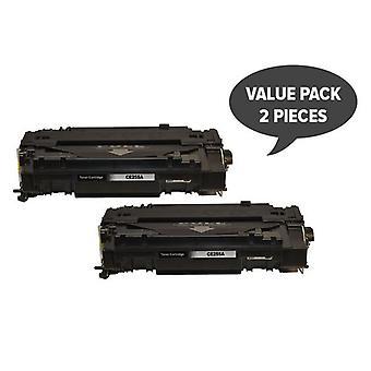 2 x CE255A 55A Black Generic Toner