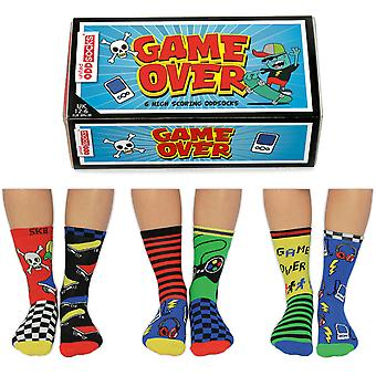United Oddsocks Game Over Socks Gift Set For Boy's