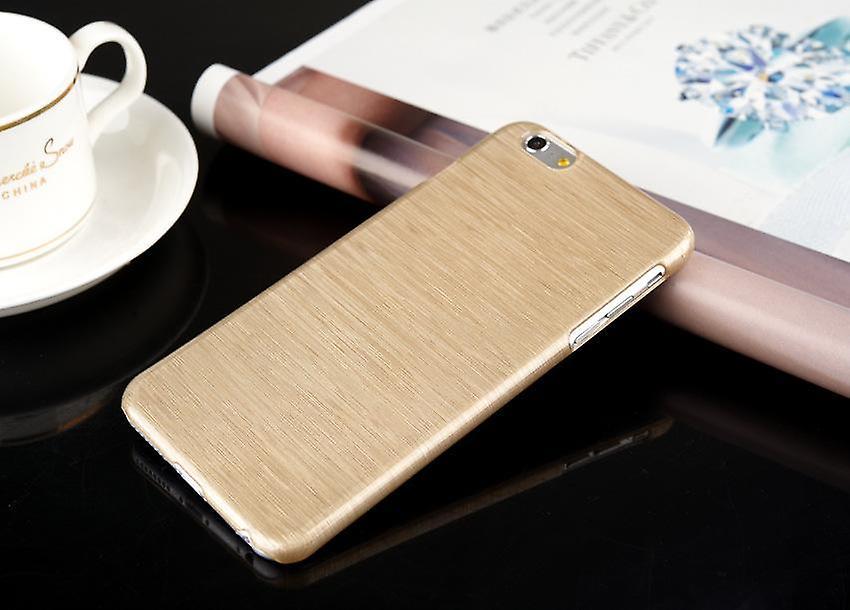 Mobile shell brushed aluminum Iphone plastic Champange