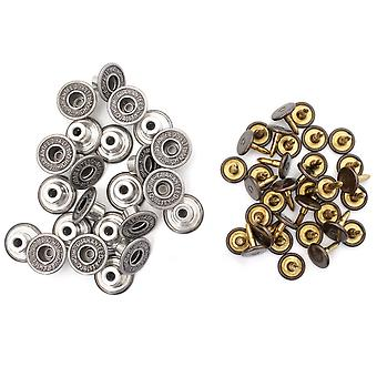 14mm Gunmetal Replacement Jeans Buttons