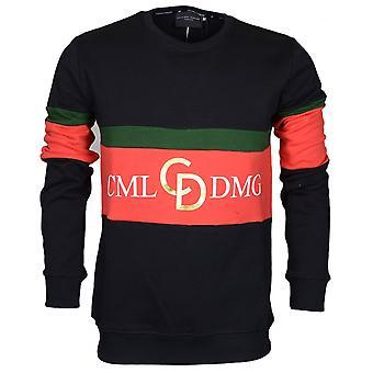 Criminal Damage Dolfo Cotton Logo Black/gold Sweat