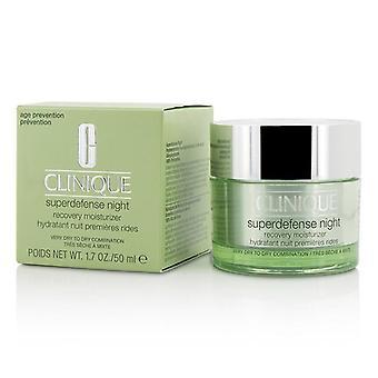 Clinique Superdefense noche recuperación crema hidratante - para combinación de muy secas a secas - 50ml/1.7 oz